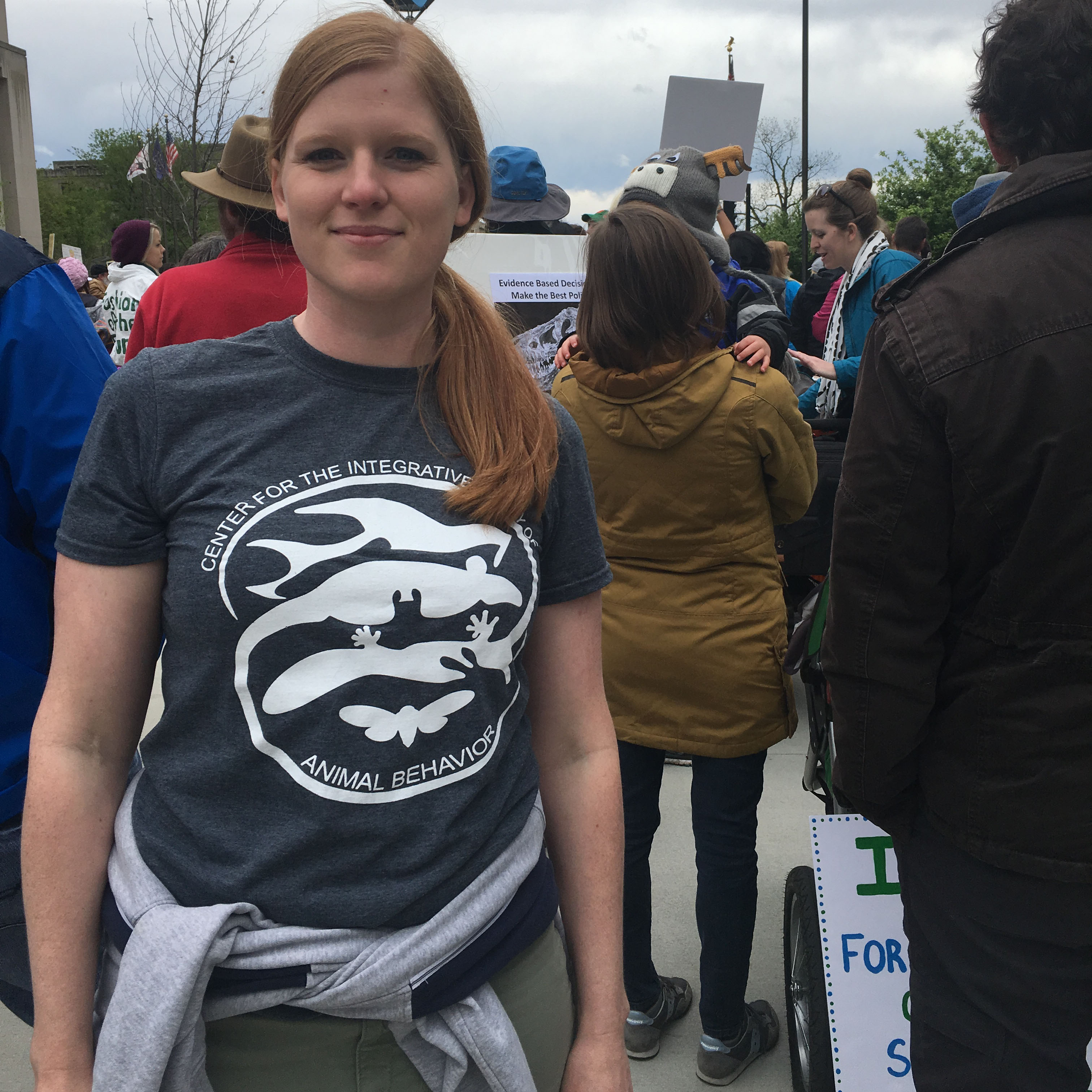 Kelly Ronald at the Indy March for Science